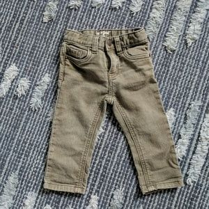 Cat & Jack Skinny Army Green Jeans